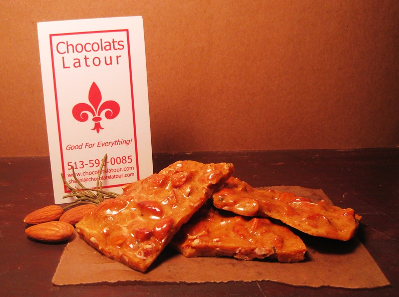 Brittle rosemary almond small