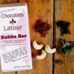 Bubba Bar Darkchocolate bar with bacon salt herbs and caramelized cashews